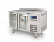 Kjølt arbeidsbenk m/ 2 glassdører