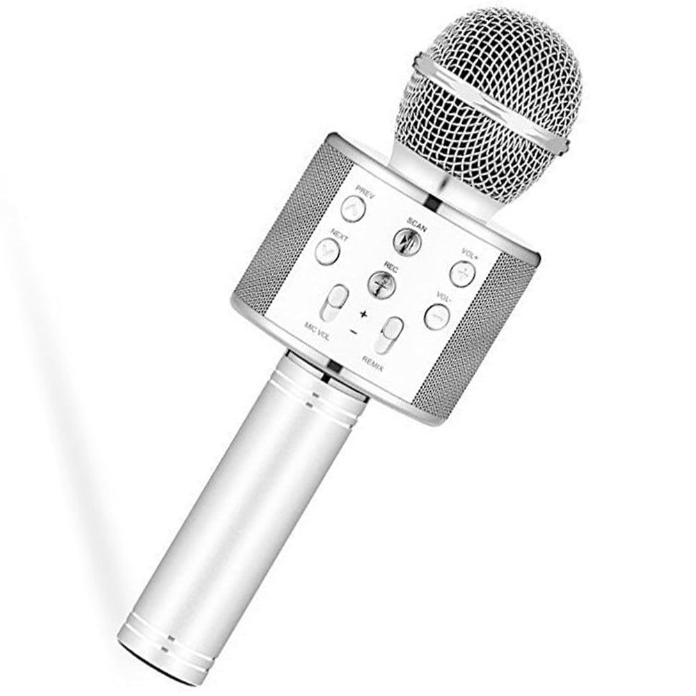 Μικρόφωνο Karaoke Bluetooth Ασημί Iso Trade (00008997)