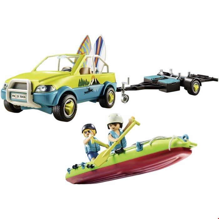 Αυτοκίνητο με ανοιχτή οροφή και κανό PLAYMOBIL (70436)