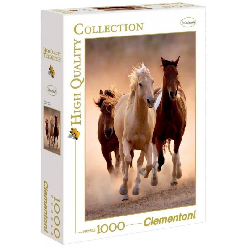Παζλ 1000 τεμ. Άλογα  H.Q. CLEMENTONI (39168)