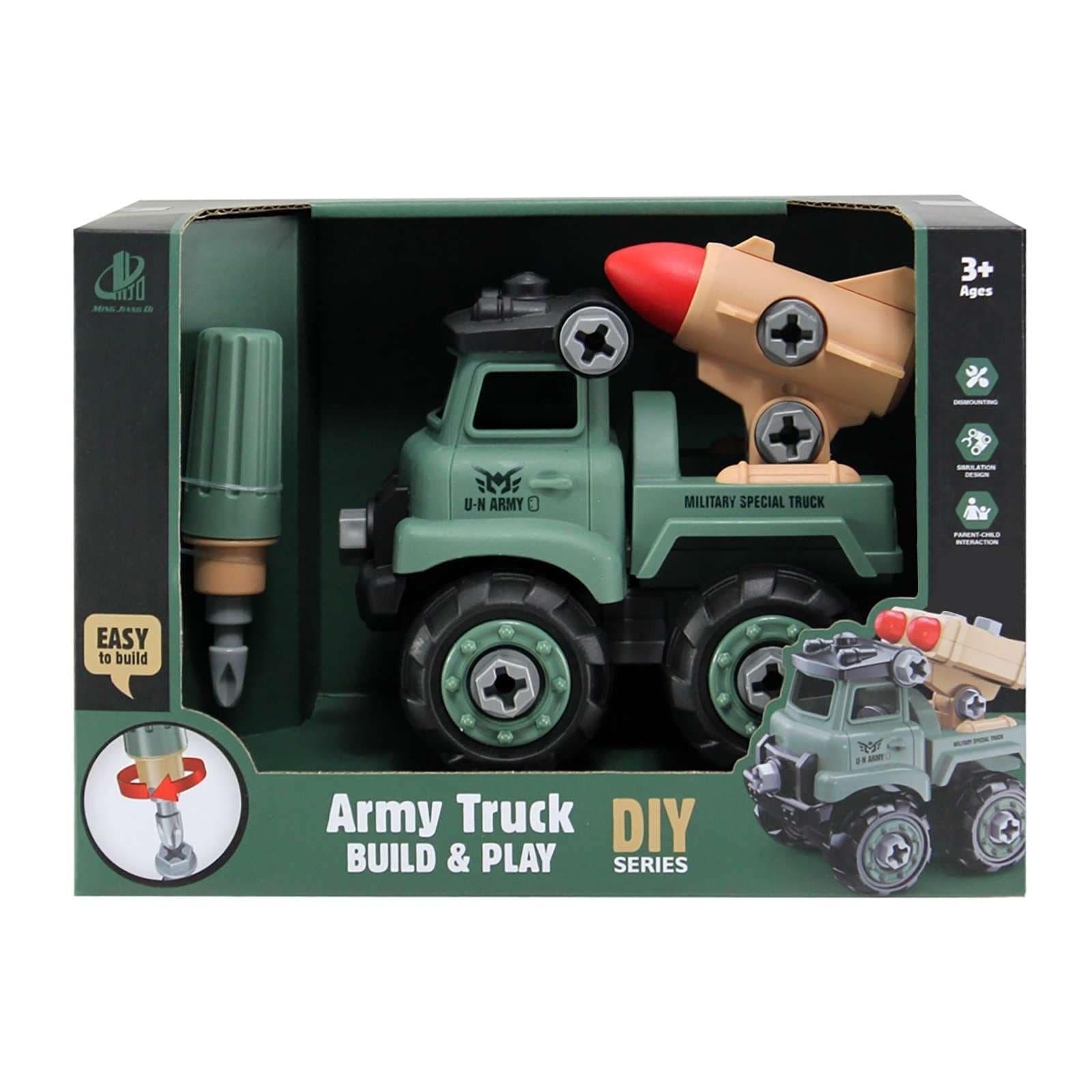 Στρατιωτικό Φορτηγό DIY με κατσαβίδι MJD (127-1A)