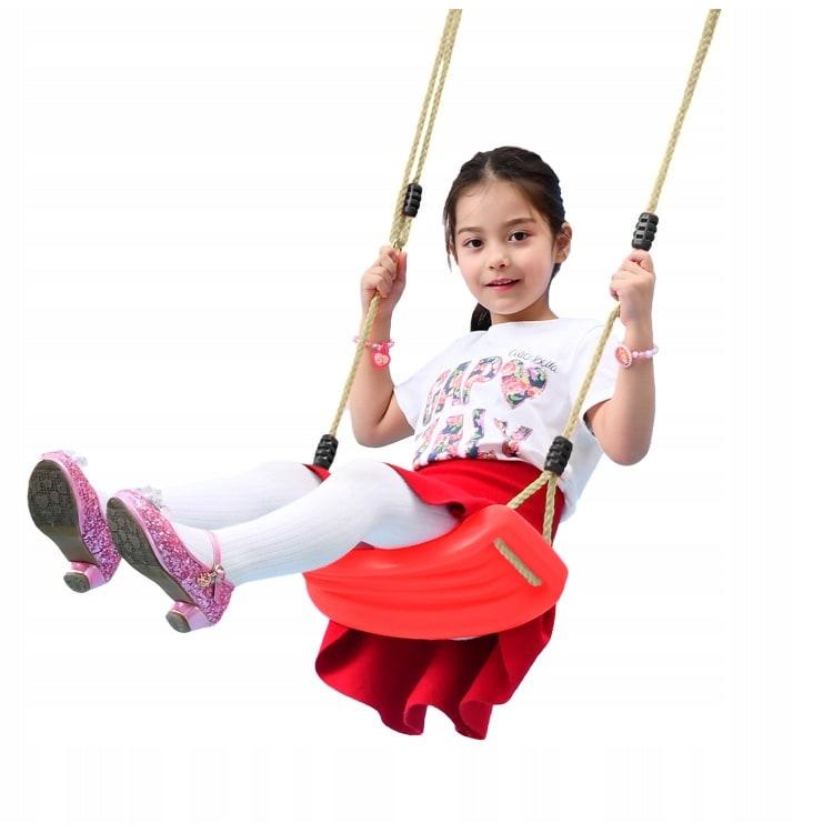 Πλαστική παιδική κούνια κόκκινη Iso Trade (00006310)