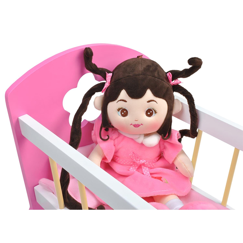 Ξύλινo Κρεβάτι-Κούνια για Κούκλες Iso Trade (00006508)