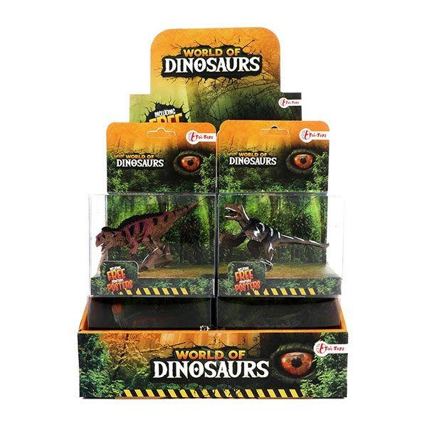 WORLD OF DINOSAURS Dino Play φιγούρα 7 εκ. (4 σχέδια) Toi-Toys (37362Z)