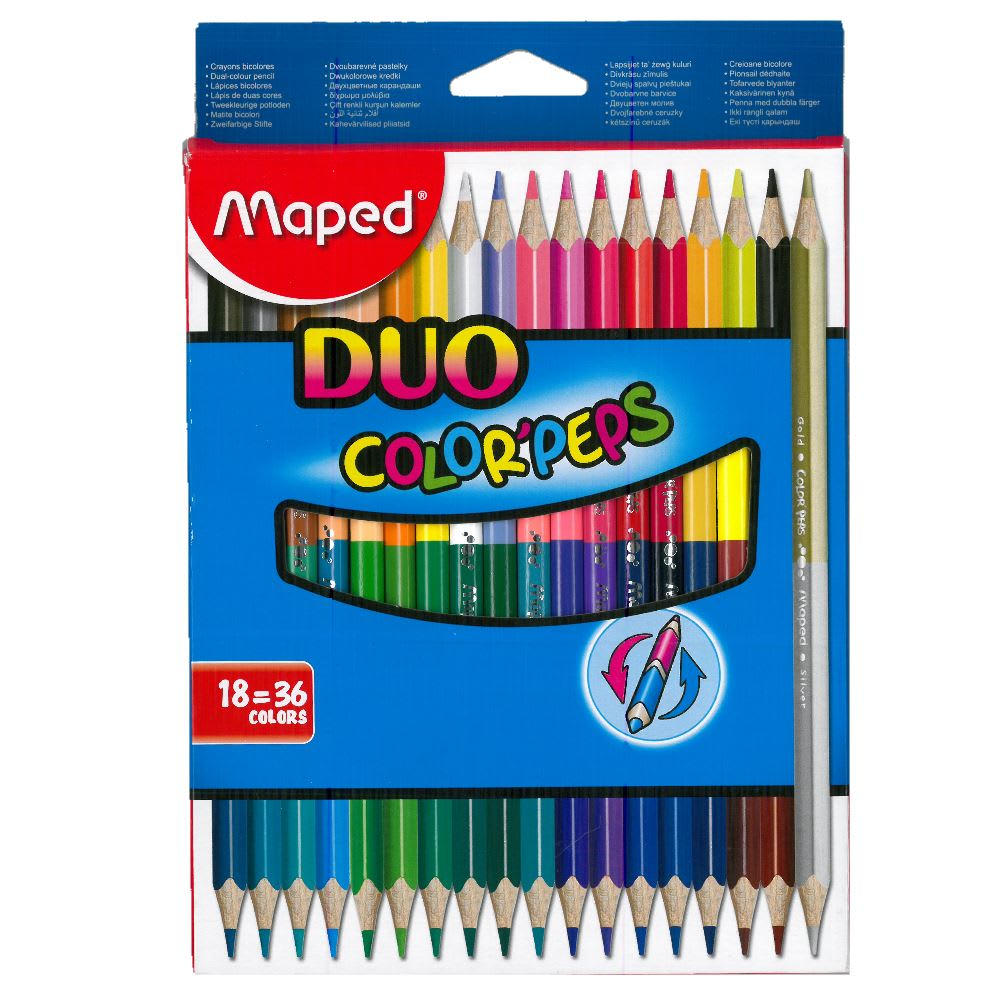 Ξυλομπογιές Color'Peps Duo 18 τεμ. MAPED (829601)