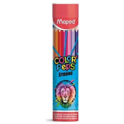 Ξυλομπογιές Color Peps STRONG σε Μεταλλικό Κύλινδρο METAL TUBE 24 τεμ MAPED (862745)