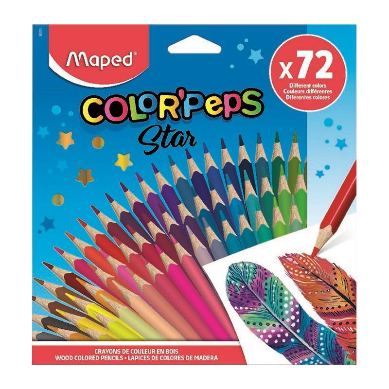 Ξυλομπογιές Color Peps Star 72 χρώματα MAPED (832072)
