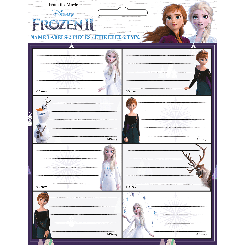 GIM Ετκέτες Frozen II - 2 Φύλλα (771-81246)