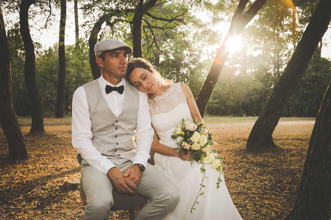Caroline et Marc La forêt comme déco !