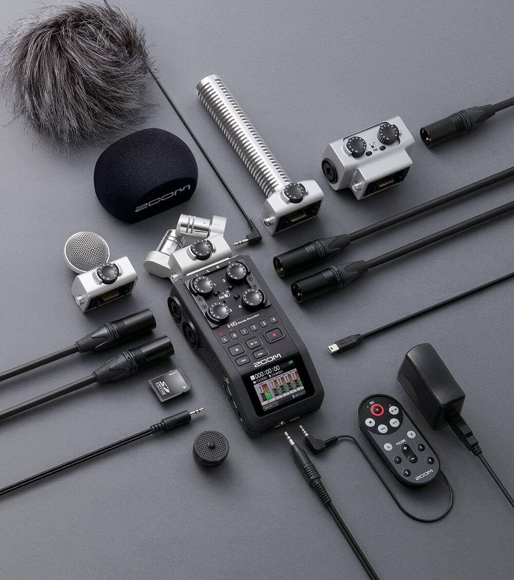 Réservez votre enregistreur audio Professionnelle 6 PISTES