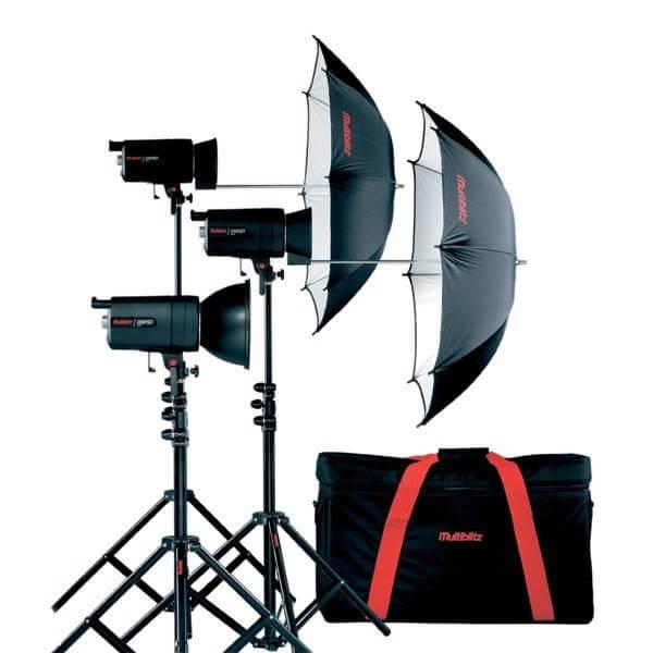 Kit éclairage studio 3×400 J.