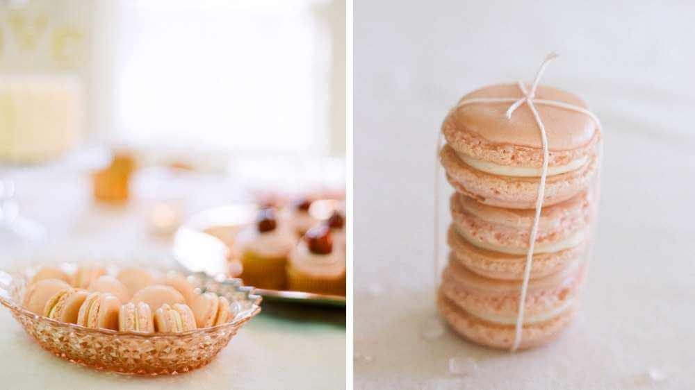 macarons rose bonbon