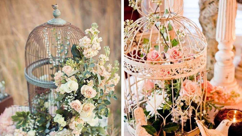 Petite cage à oiseaux comme décoration pour le mariage style est aime champêtre ou recouds coup vinent Edge
