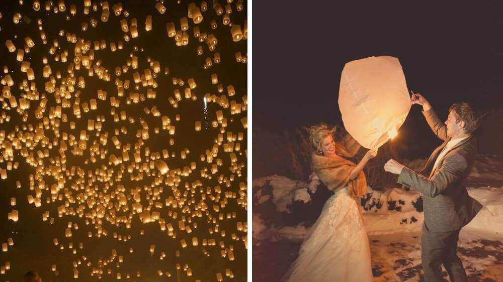 Idée pour des mariages lanternes thaïlandaises Christophe Boury photographe professionnel