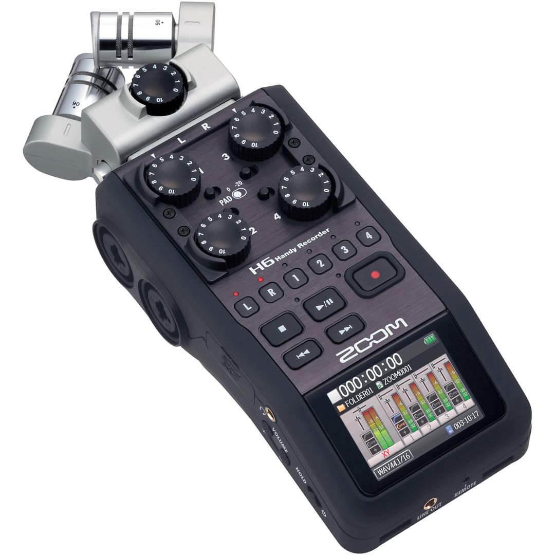Réservez votre enregistreur audio professionnel portable zoom-h6