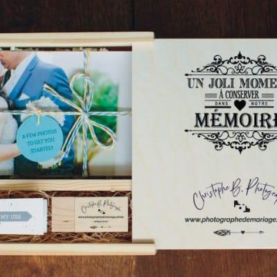 Le coffret émotion en bois pour votre mariage !