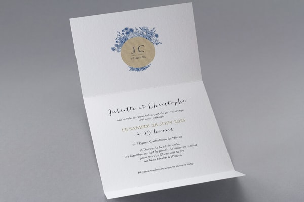 Faire-part de mariage sur le thème de la marinière Lège Cap-Ferret Bordeaux