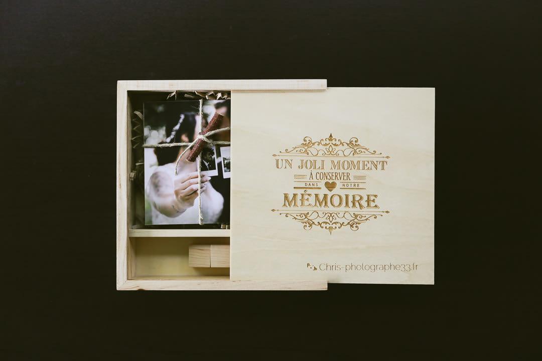 la boîte ou Le coffret émotion en bois pour votre mariage !