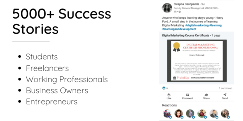 Digital Marketing Online Courses - Reviews and Success Stories