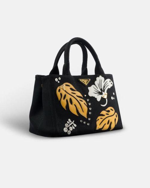 4ddc5ff34543 Prada Hawaii Shopping Tote Black