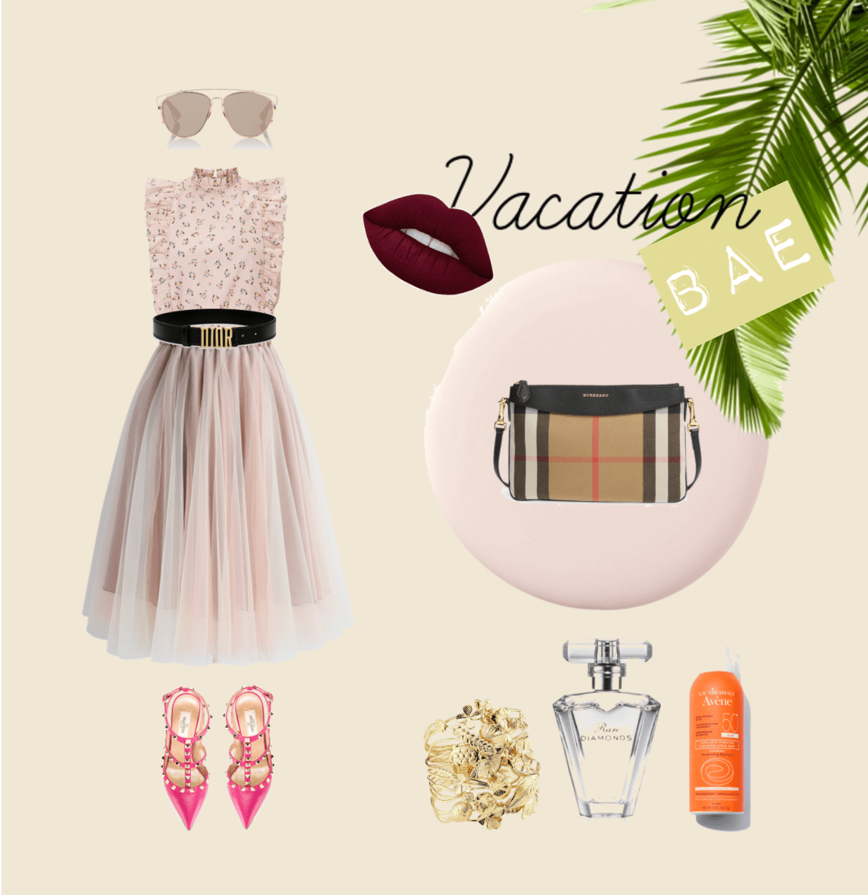95667e21446 What s prettier than an all pink ensemble   Look divine by pairing this  crossbody with a Dainty Outfit, Strappy Valentino heels and a black Dior  Belt.