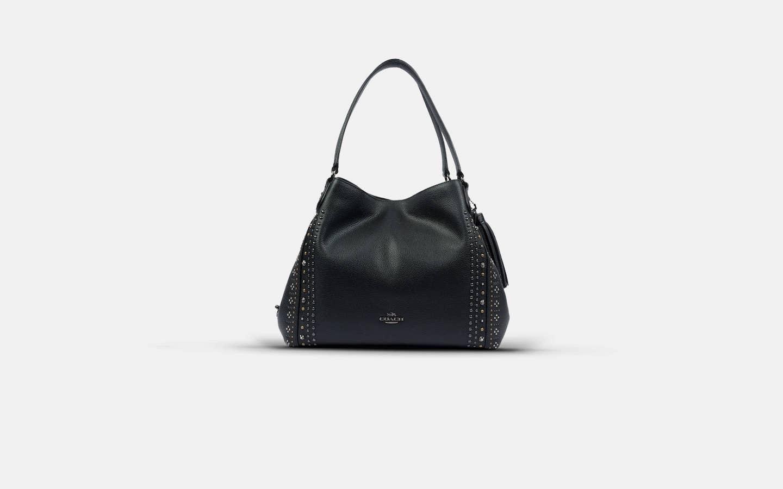 Coach_Edie_31_Black_Handbag_Front-min
