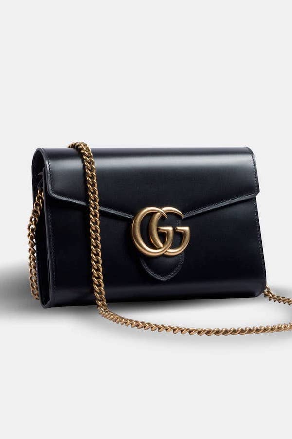 Gucci Marmont Chain Wallet Angled