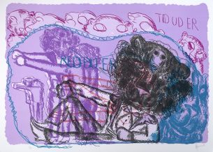 Visual Artwork: Untitled 4 by artist and creator Bjarne Melgaard