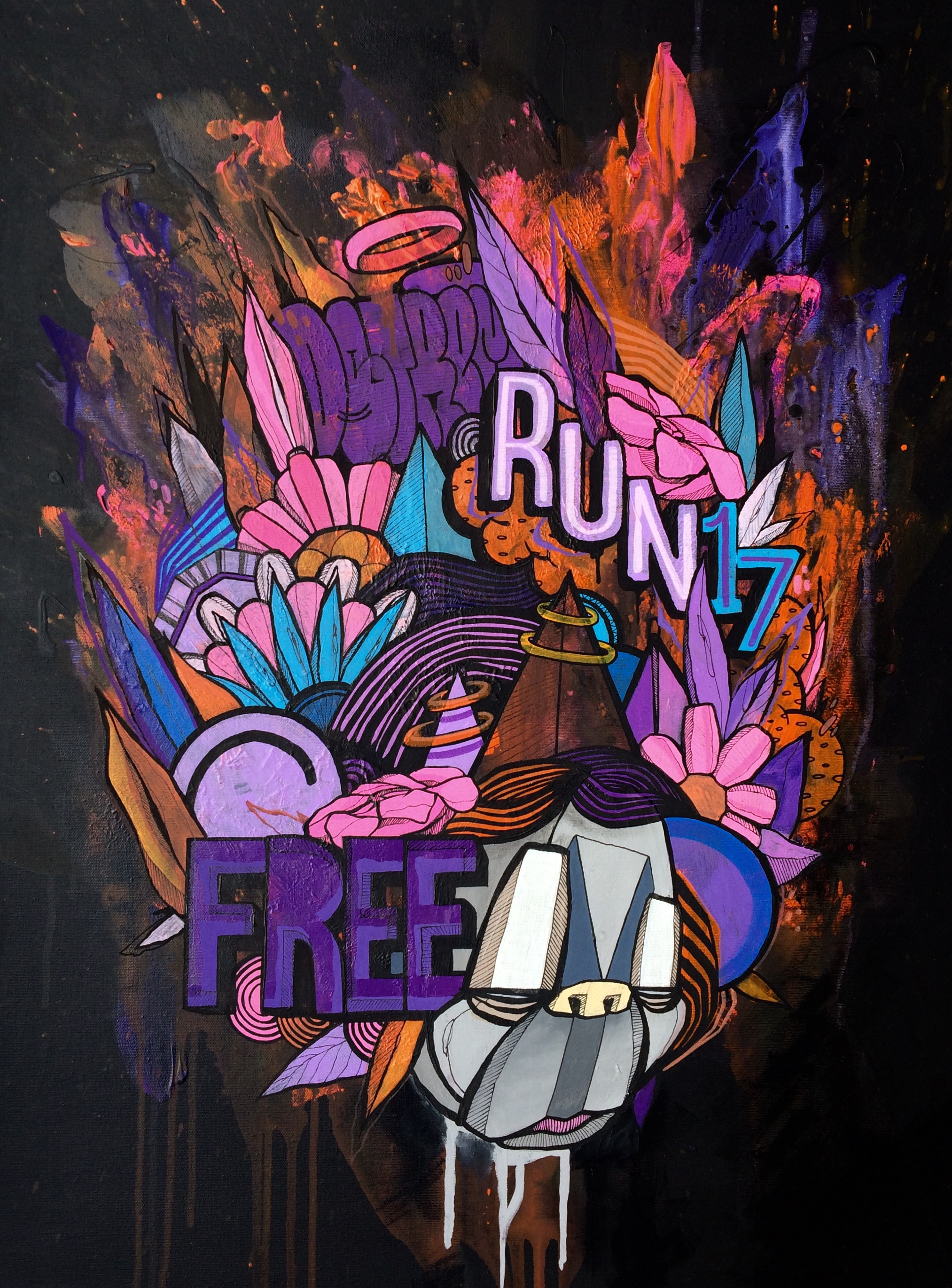 Visual Artwork: Run Free by artist and creator Atle Østrem