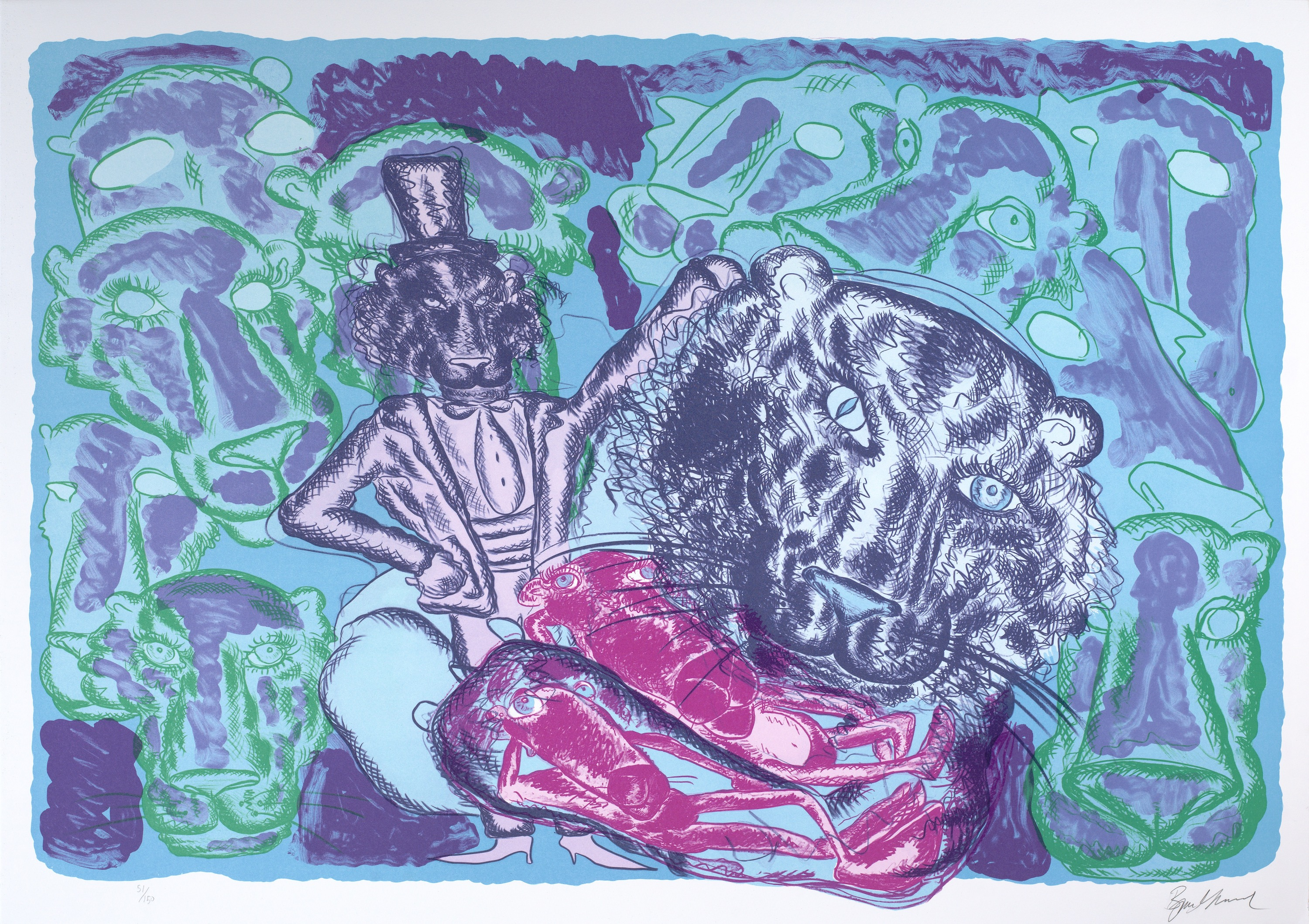 Visual Artwork: Untitled 5 by artist and creator Bjarne Melgaard