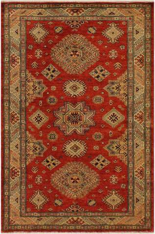 4 x 6 Red Tribal Rug