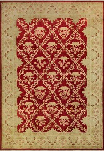 10x14 Royal Red Peshawar Ziegler Rug full size