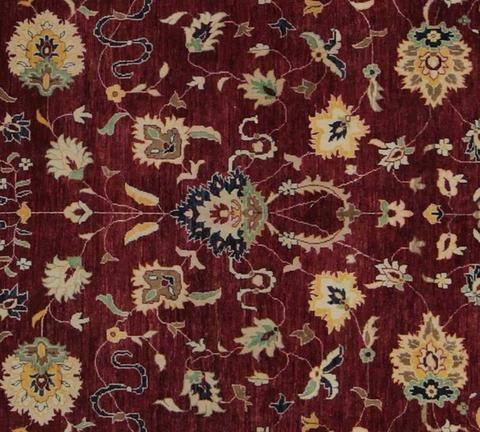 10x14 Large Red Peshawar Ziegler Rug center design