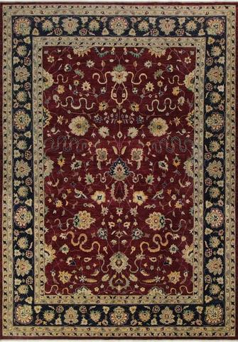 10x14 Large Red Peshawar Ziegler Rug full size
