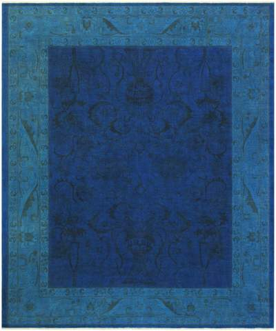 8x10 Blue Overdyed Rug