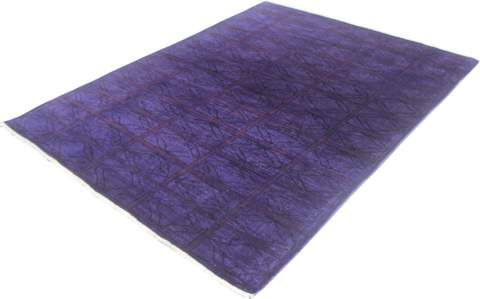 5x6 Purple Overdyed Rug 1