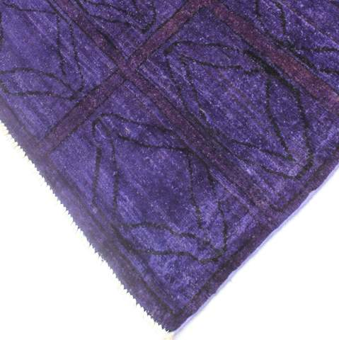 5x6 Purple Overdyed Rug 2