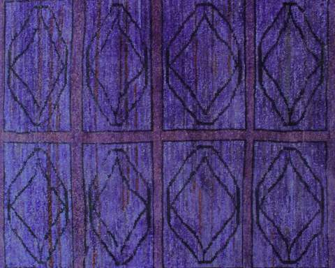 5x6 Purple Overdyed Rug 3