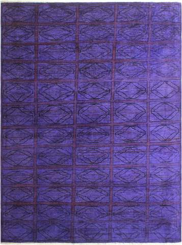 5x6 Purple Overdyed Rug