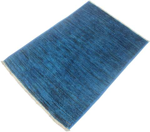 2x3 Blue Overdyed Rug 1