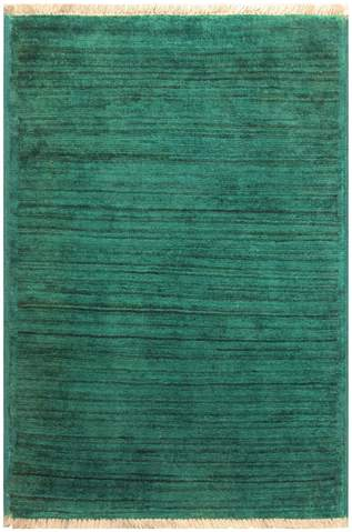 2x3 Green Overdyed Rug