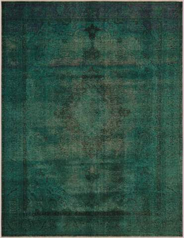 9x12 Green Overdyed Rug