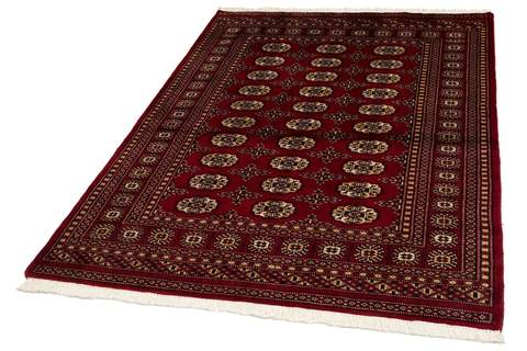 4x6 Red Bokhara Oriental Rug 1