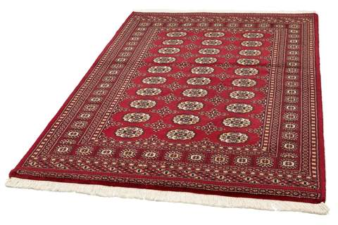 4x6 Red Bokhara Oriental Rug 2