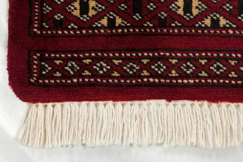 4x6 Red Bokhara Oriental Rug 3
