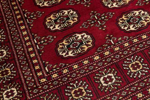 4x6 Red Bokhara Oriental Rug 4