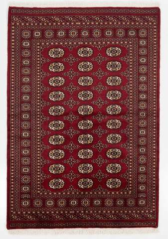 4x6 Red Bokhara Oriental Rug Image