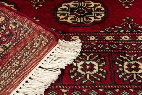 4x6 Red Bokhara Oriental Rug 5