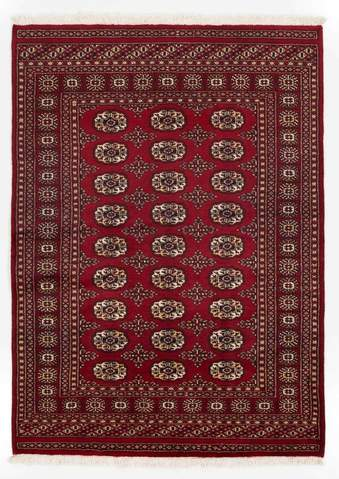 4.17 x 5.83' Red Bokhara Oriental Rug
