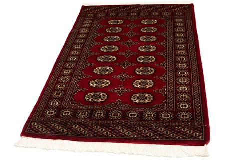 3x5 Red Bokhara Oriental Rug 1